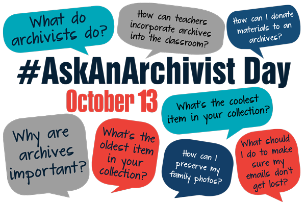 Image promoting #AskAnArchivist Day