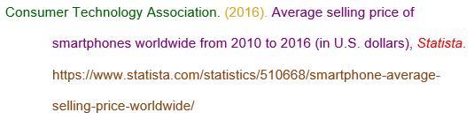 Statista citation