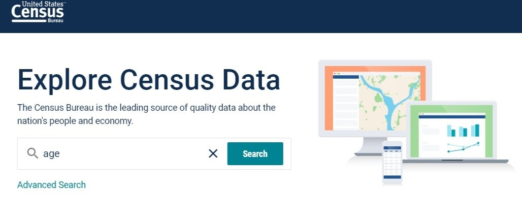 Census.gov website