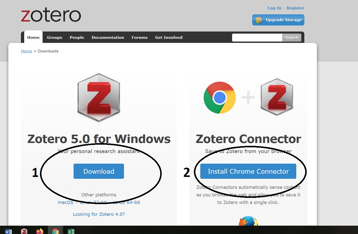 Zotero Download page