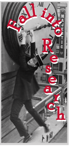 Fall into Research Buster Keaton Falling off Clock