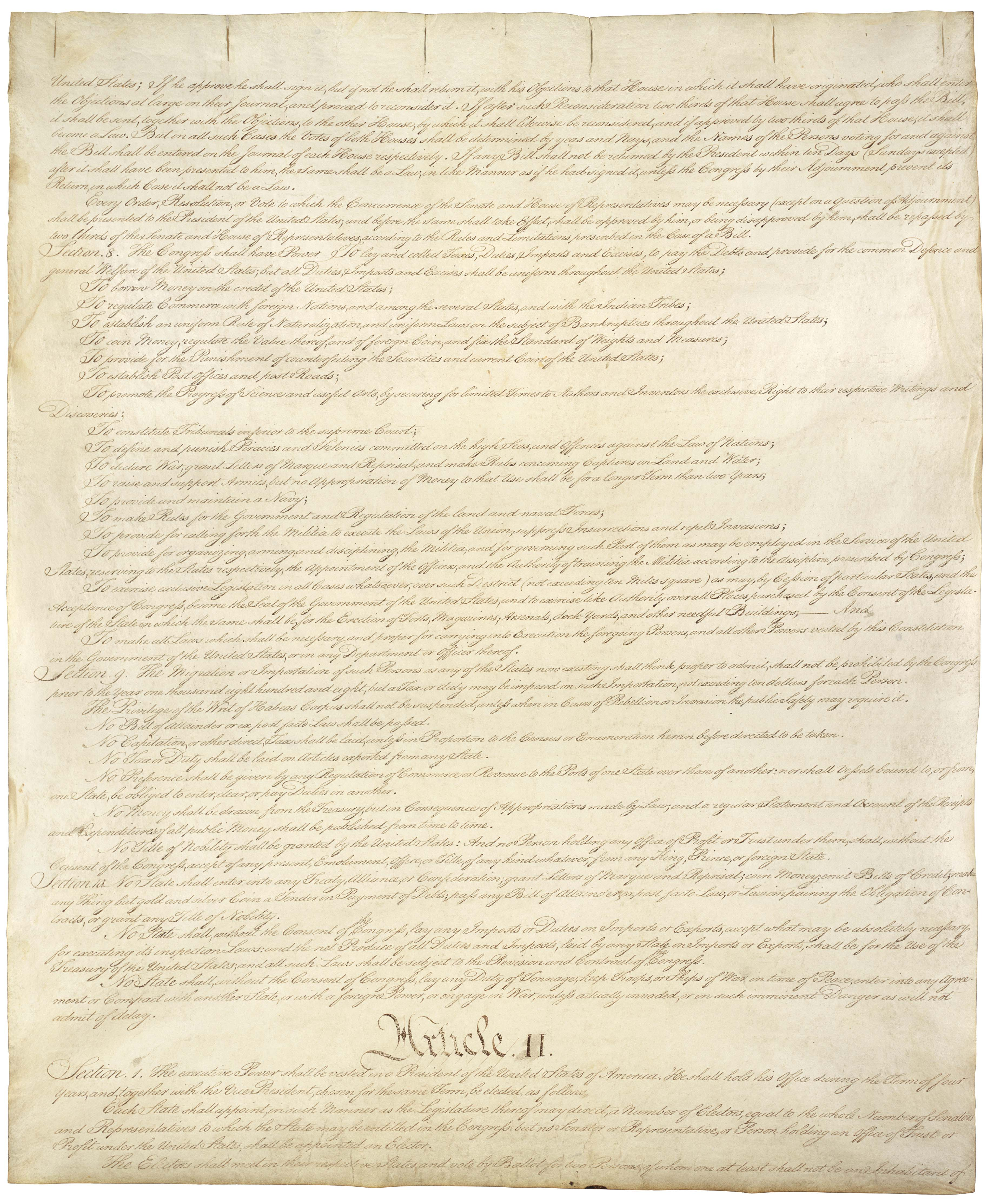 Page 2 U.S. Constitution (image of original)