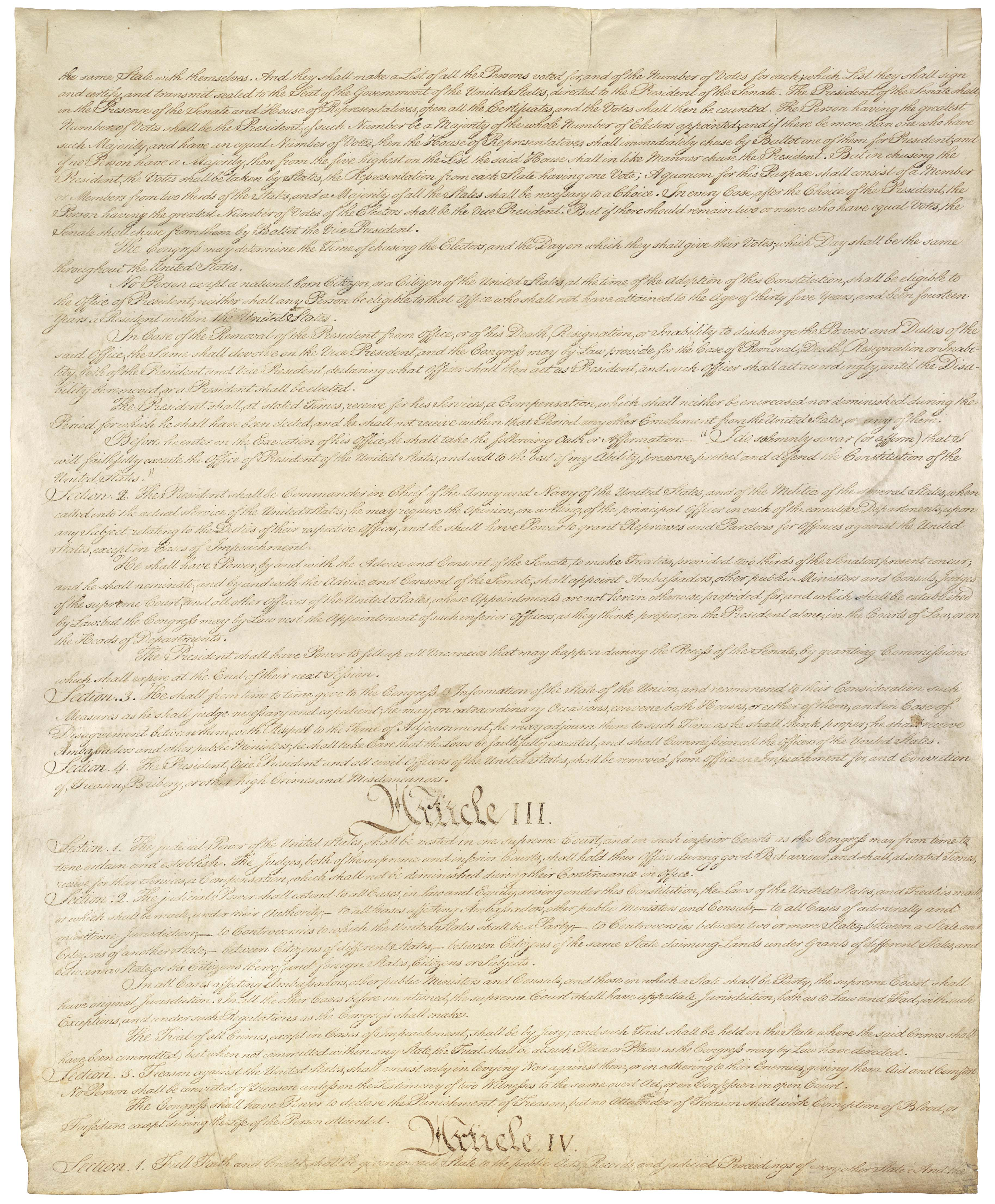Page 3 U.S. Constitution (image of original)