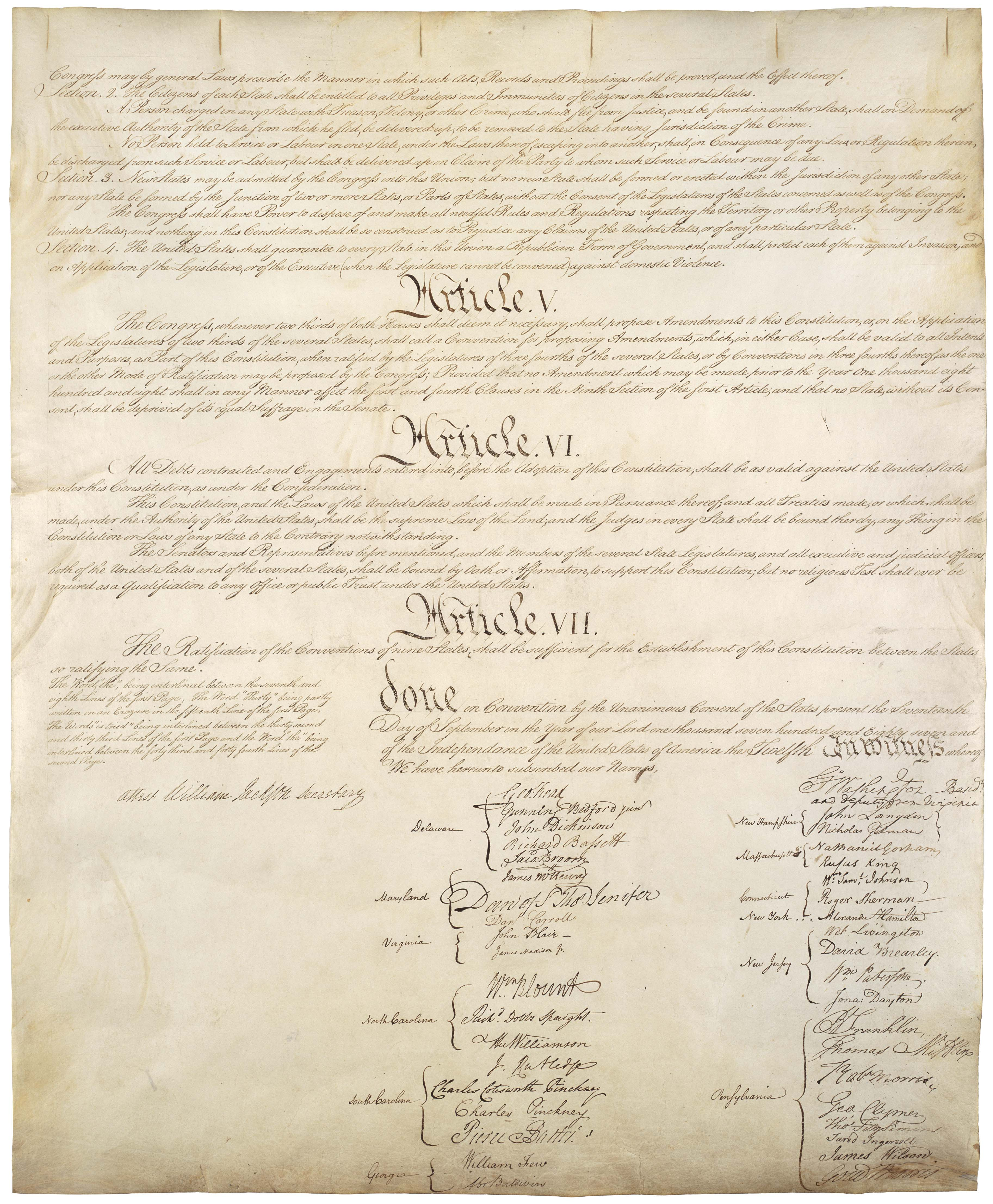 Page 4 U.S. Constitution (image of original)