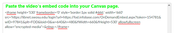 Paste the embed code into the page and hit Save.