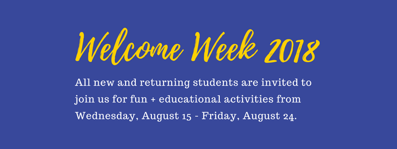 Welcome Week 2018 graphic