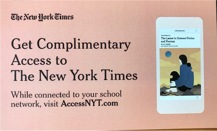 Complimentary access to The New York Times