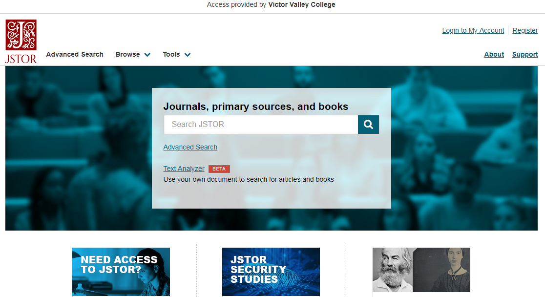 JSTOR screenshot