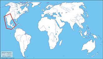 Distribution map of sunburst diving beetle