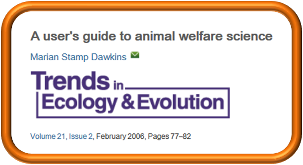 user's guide to animal welfare science