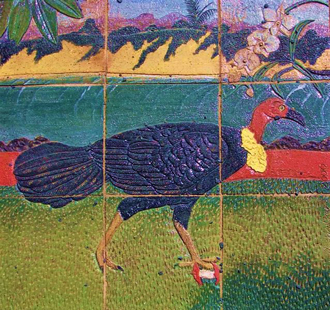 Tile art of Australian Brush-turkey