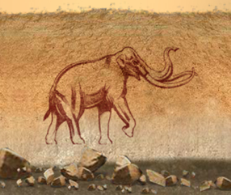 Extinct elephant drawing, Elephant Odyssey, San Diego Zoo