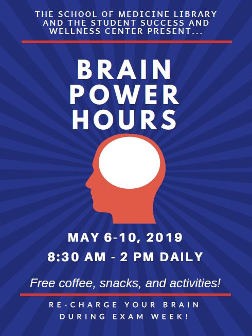 Brain Power Hours, May 6-10, 8:30am - 2pm