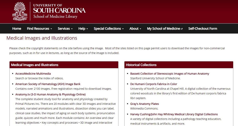 屏幕捕获医学图像和插图页面的缩略图