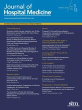 Journal of Hospital Medicine cover