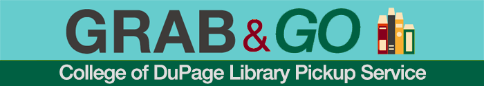 Logo for the Library Grab and Go pickup service