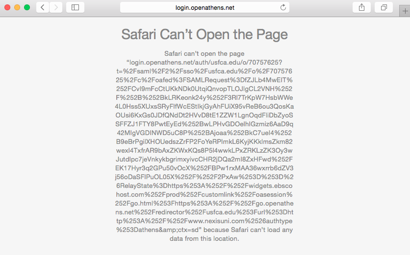 Safari browser error