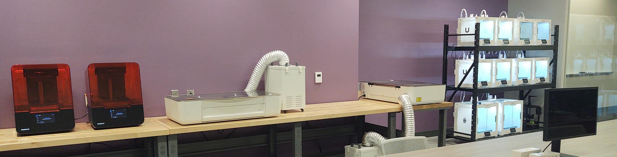 banks of 3D printers