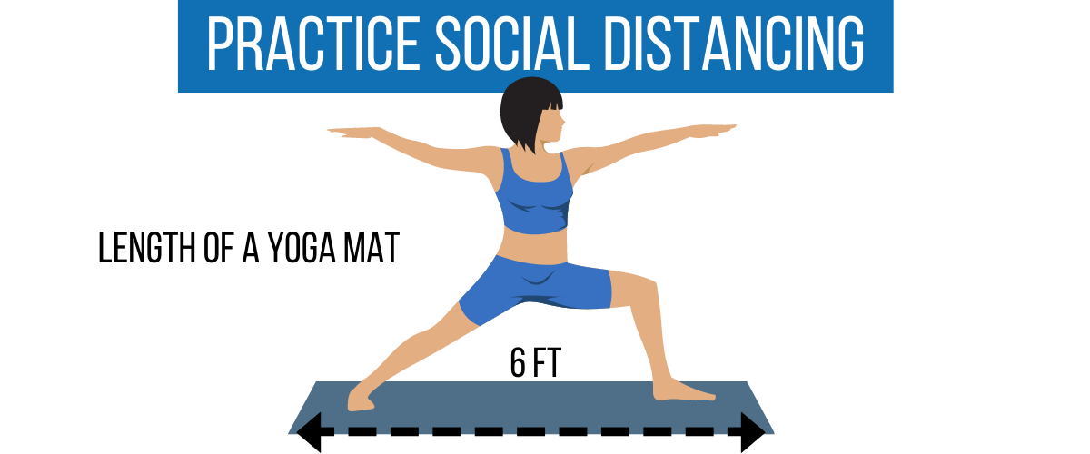 social distance of 6 feet is length of yoga mat