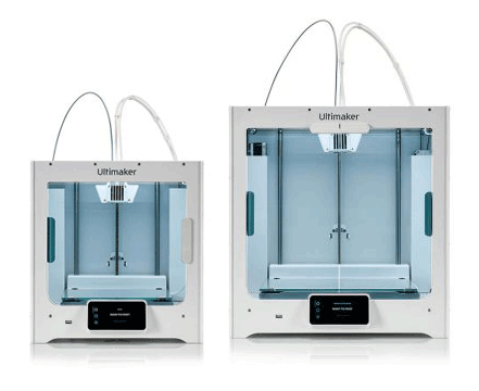 small and big 3d printers