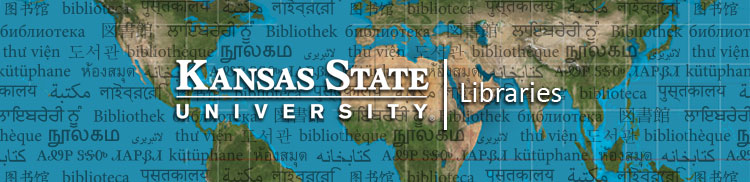 Kansas State University Libraries header