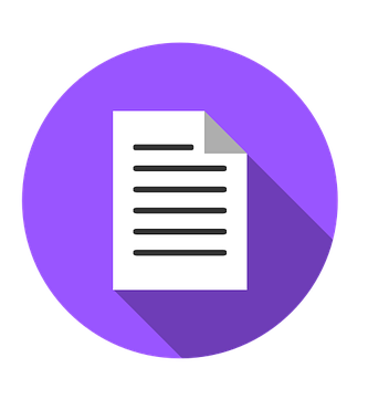 Purple document icon