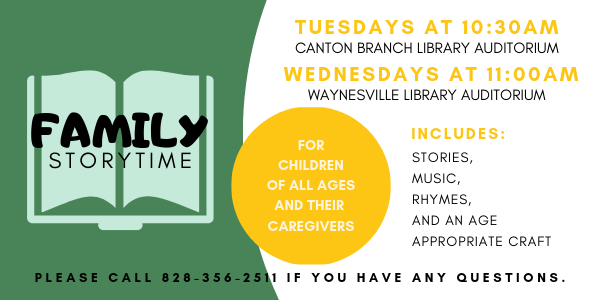 Family Storytime at the Haywood County Public Library