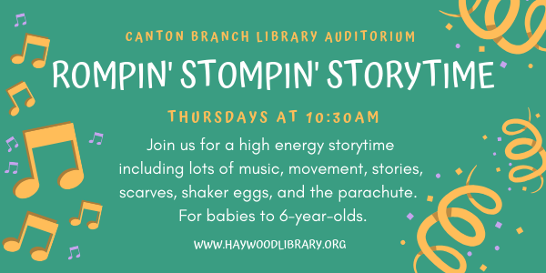 Rompin Stompin Storytime at the Haywood County Public Library