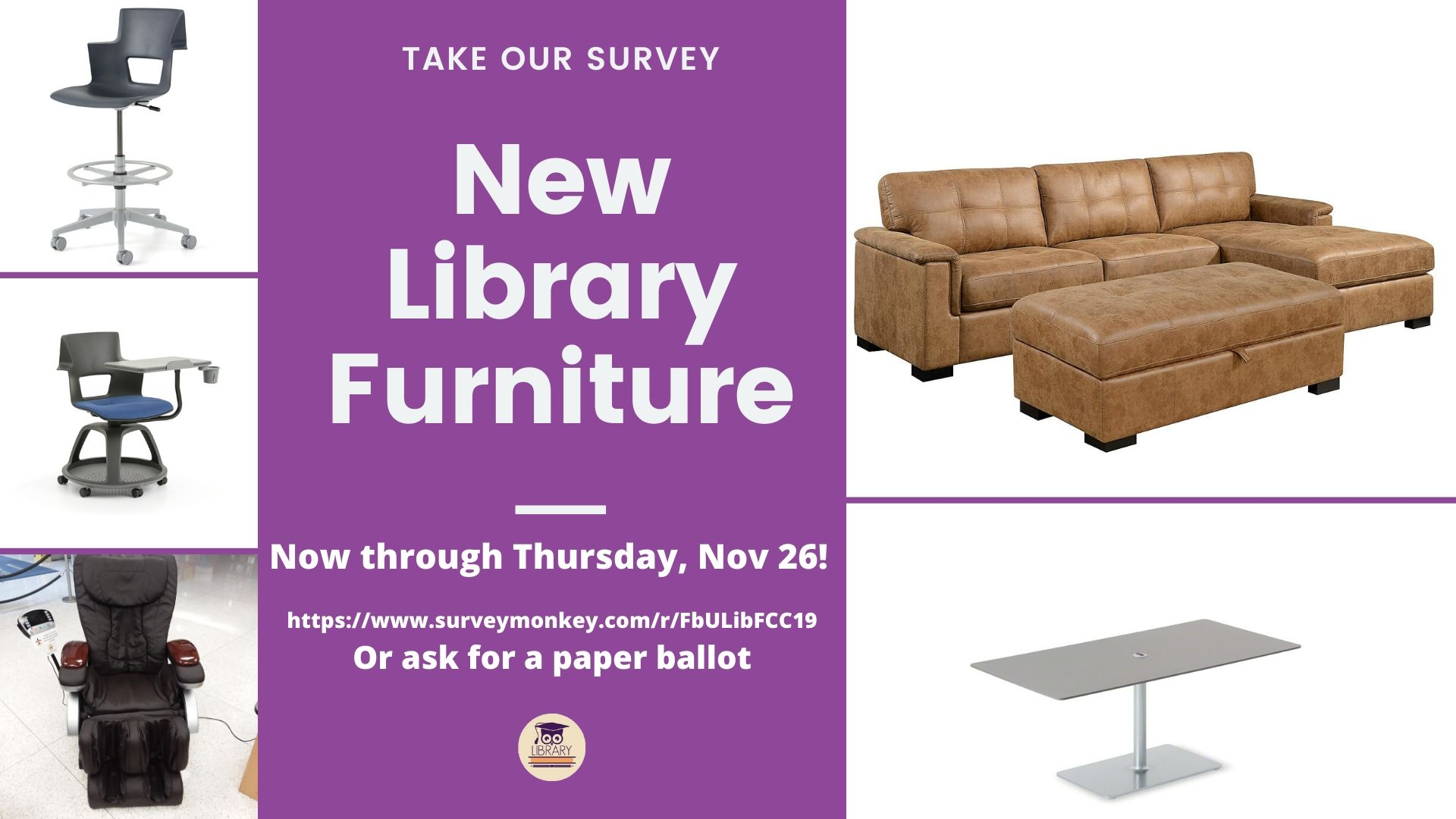 Vote on new furniture for the library