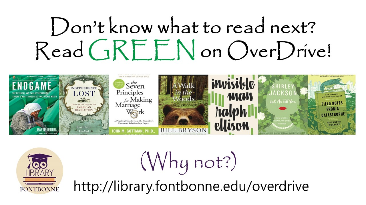Read Green e-books with Overdrive