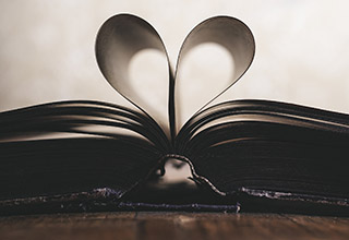 Heart shape in a Book