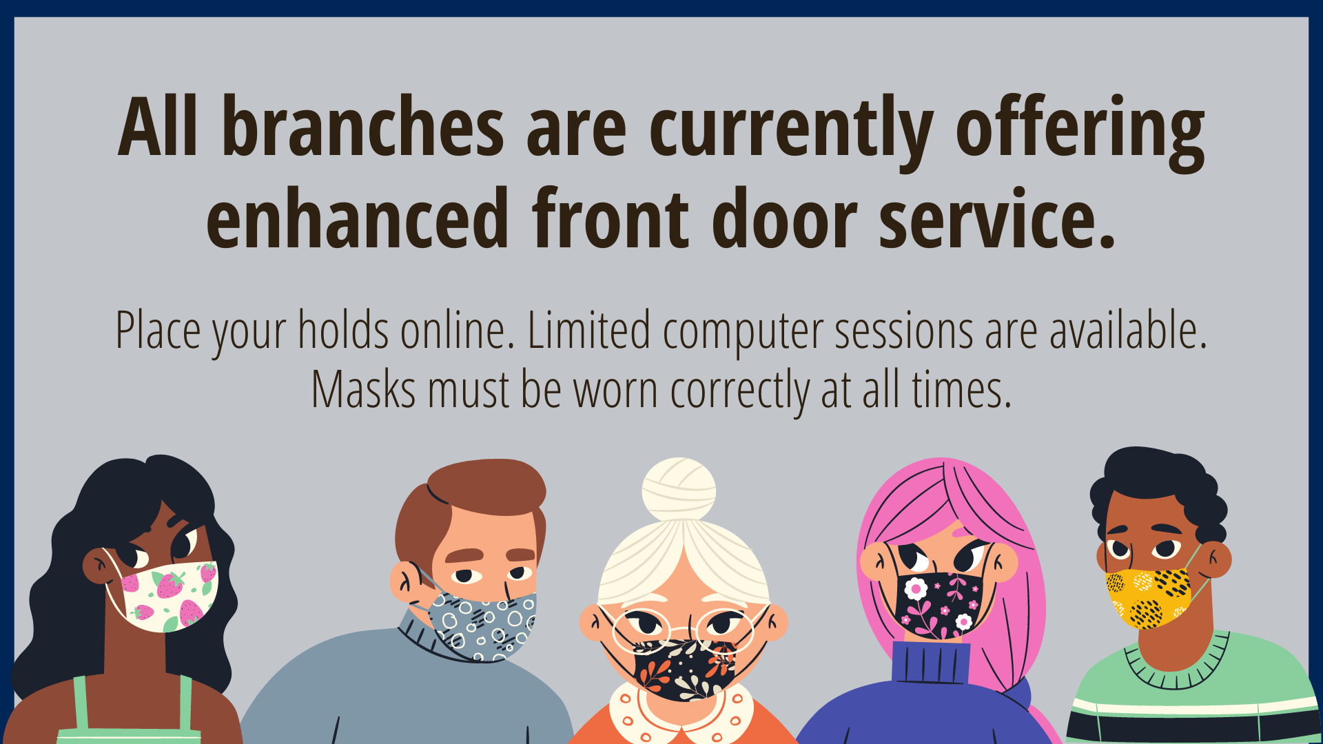 JCLS Libraries Continue to Offer Enhanced Front Door Service