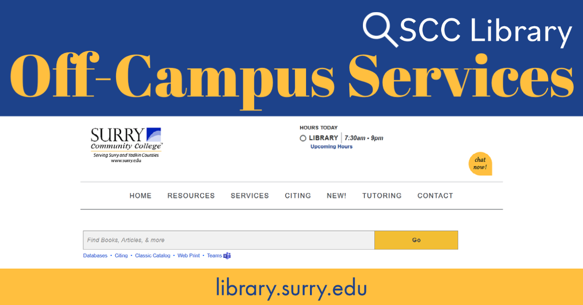 Library Services Off-Campus