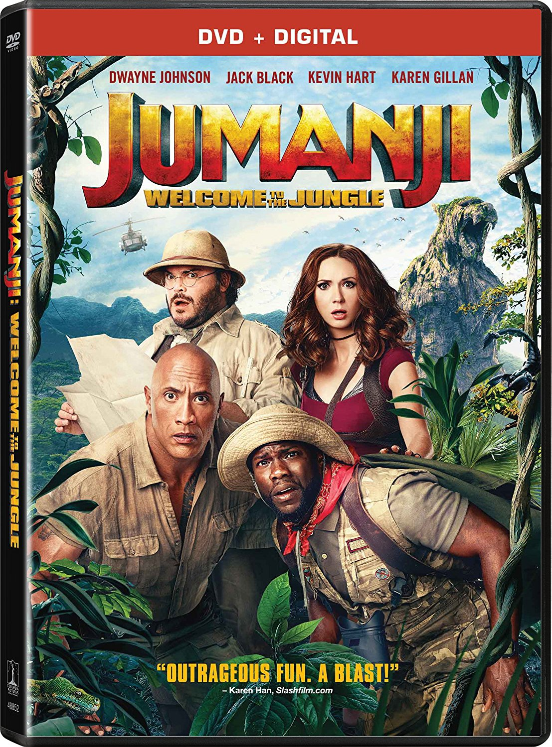 Jumanji. Welcome to the jungle dvd cover