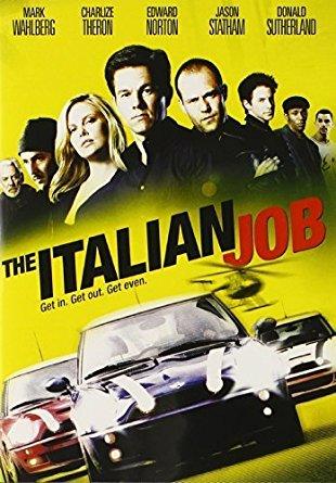 The Italian job dvd cover