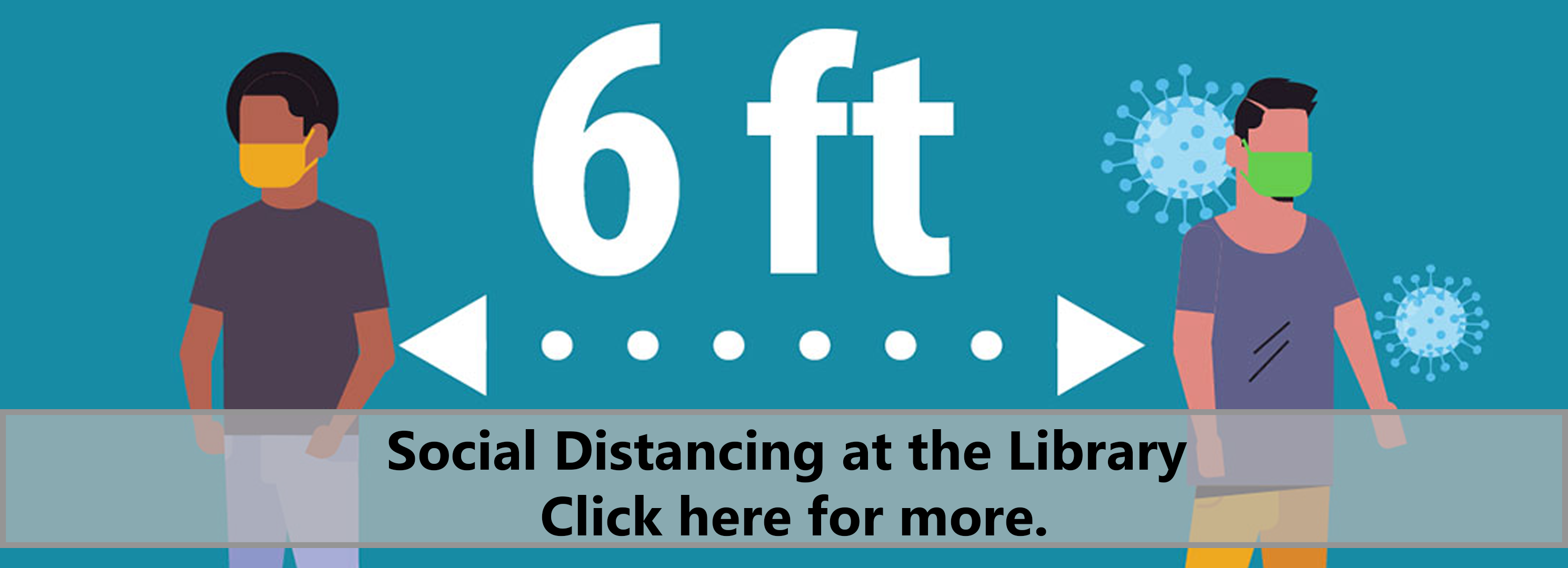 Social distancing at the library. Click here for more.