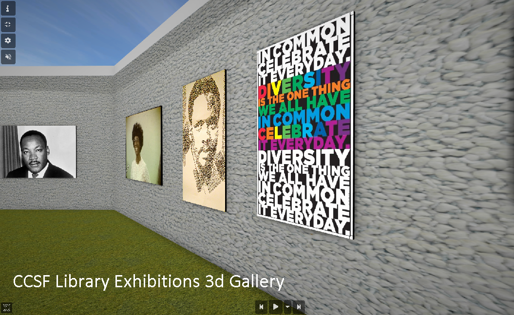CCSF Library Exhibitions 3d Gallery