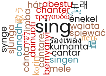 'sing' in many languages