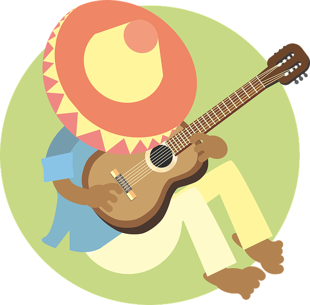 man with sombrero and guitar