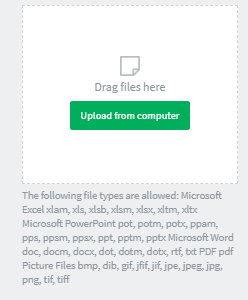 upload files menu