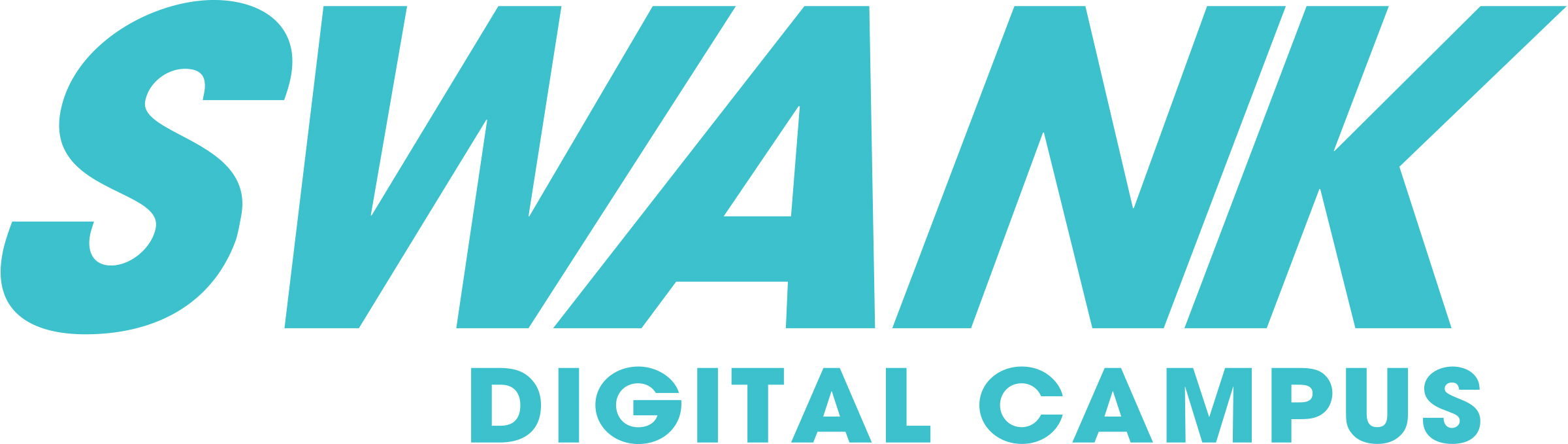 Swank Digital Campus Logo in teal color