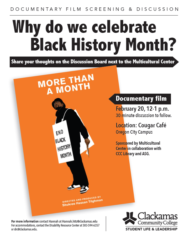 Flyer for documentary event