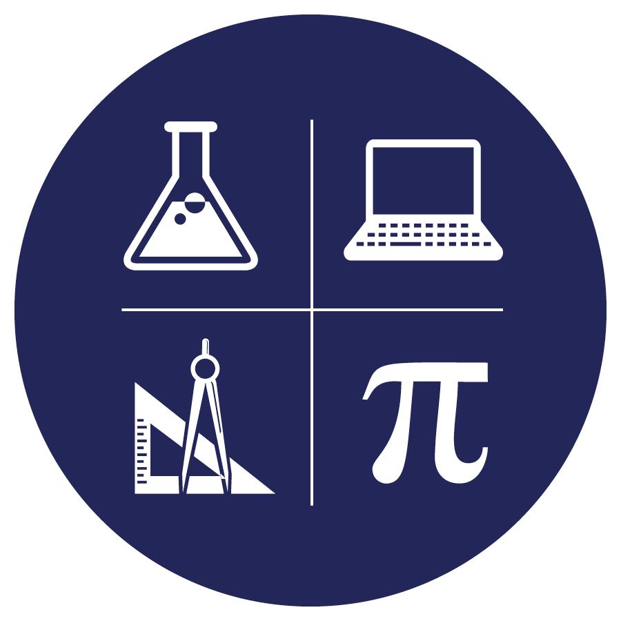 Blue STEM icon