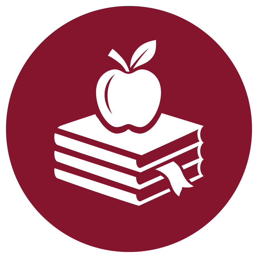 Red Teaching and Education icon