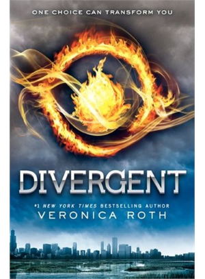 Book cover for Divergent, by Veronica Roth