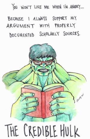 The Credible Hulk. By Maroney (2015).
