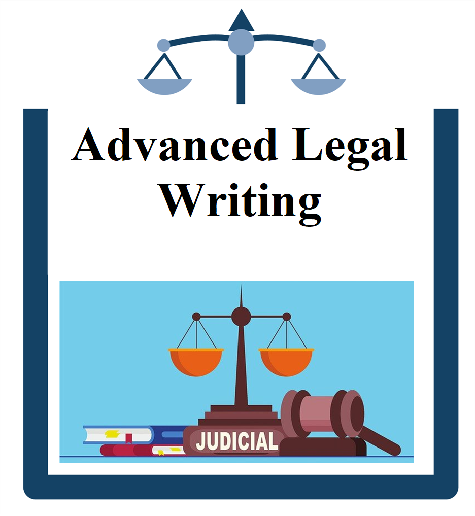 Advanced Legal Writing icon scale with books