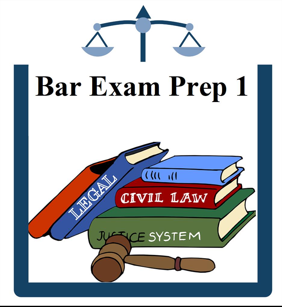 Bar Exam Icon books with gavel