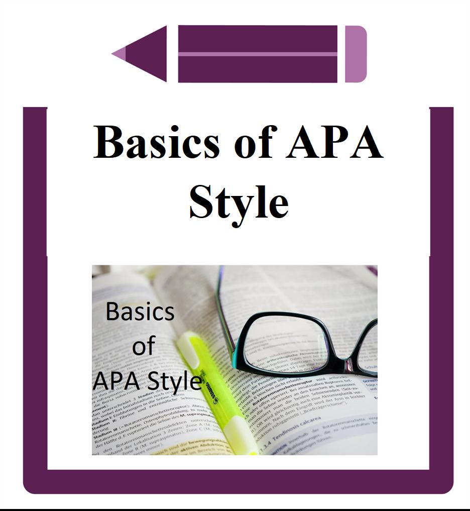 Basics of APA Style icon glasses on book
