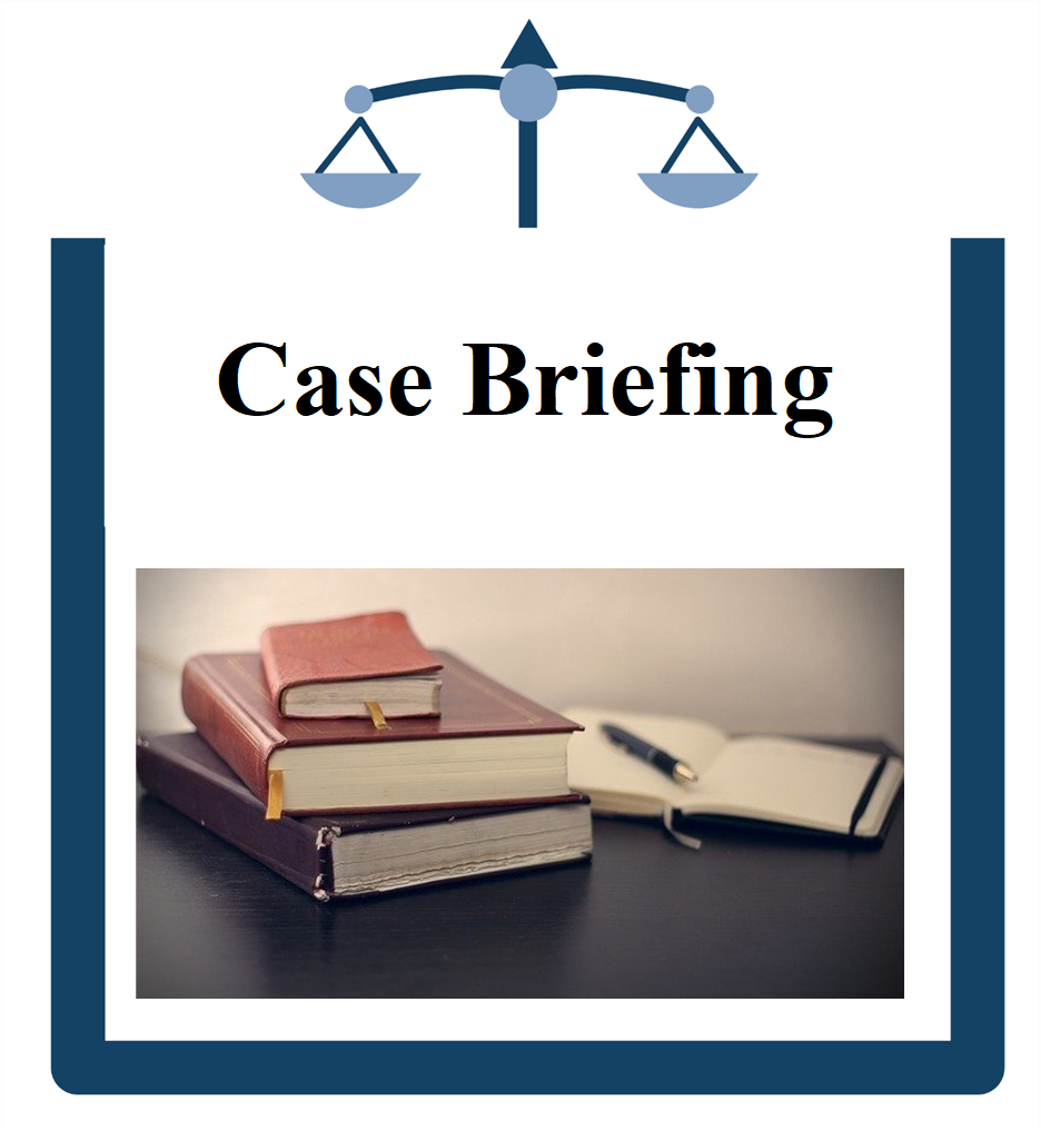 Case Briefing icon Books and notebook on table